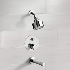 Chrome Thermostatic Tub and Shower Faucet Sets with Multi Function Shower Head