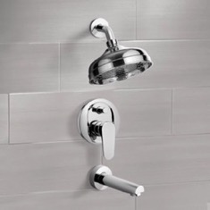 Tub and Shower Faucet Sets with 8