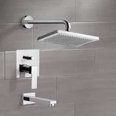Tub and Shower Faucet Sets with 9.5