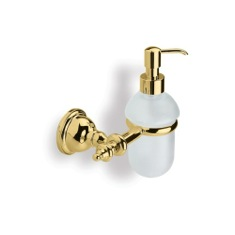 Gold Finish Classic Style Wall Mounted Glass Soap Dispenser