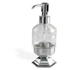 Contemporary Free Standing Crystal Glass Liquid Soap Dispenser