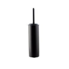 Black Rounded Brass Toilet Brush Holder