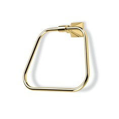 Gold Finish Classic-Style Brass Towel Ring