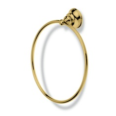 Contemporary Gold Finish Brass Towel Ring
