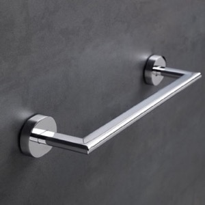 13 Inch Chrome or Satin Nickel Towel Bar
