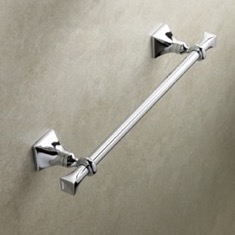 Chrome Classic 15 Inch Brass Towel Bar