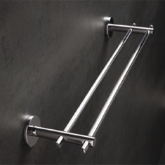 Chrome 18 Inch Double Towel Bar Made in Brass