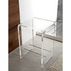 Plexiglass Square Bathroom Stool K130