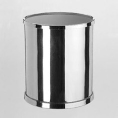 Round Bathroom Waste Bin in Brass