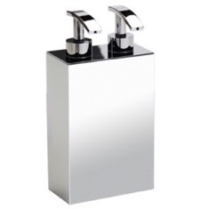Square Wall Mounted Brass Soap Dispenser with Two Pump(s)