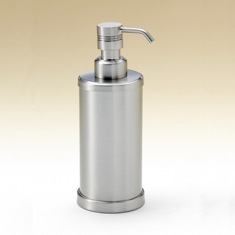 Round Brass Countertop Soap Dispenser