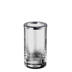 Plain Crystal Glass Toothbrush Holder