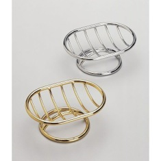 Free Standing Brass Wire Soap Dish With Chrome or Gold Finish