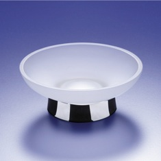 Round Contemporary Clear Crystal Glass Soap Dish