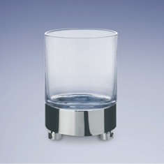 Round Plain Crystal Glass Tumbler