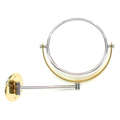 Wall Mounted Brass Double Face 3x, 5x, 5xop, or 7xop Magnifying Mirror