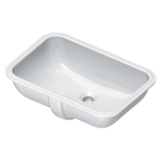 Bathroom Sink Rectangular White Ceramic Undermount Bathroom Sink GSI 724311
