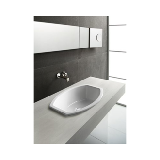 Bathroom Sink Oval-Shaped White Ceramic Self-Rimming Bathroom Sink 755411 GSI 755411