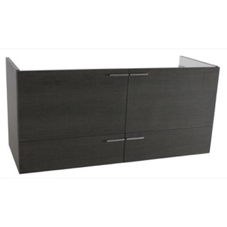Vanity Cabinet 47 Inch Wall Mount Grey Oak Double Bathroom Vanity Cabinet ACF L411GO