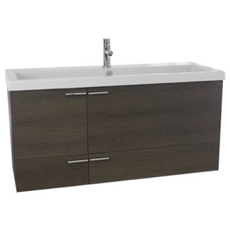 Bathroom Vanity 47 Inch Grey Oak Bathroom Vanity Set, Double Sink ACF ANS370