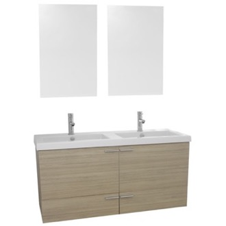 Bathroom Vanity 47 Inch Larch Canapa Bathroom Vanity Set, Double Sink, Mirrors Included ACF ANS1052