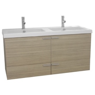 Bathroom Vanity 47 Inch Larch Canapa Bathroom Vanity Set, Double Sink ACF ANS375