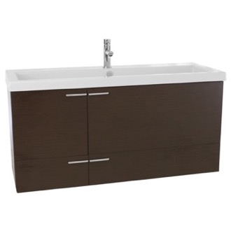 Bathroom Vanity 47 Inch Wenge Bathroom Vanity Set, Double Sink ACF ANS369