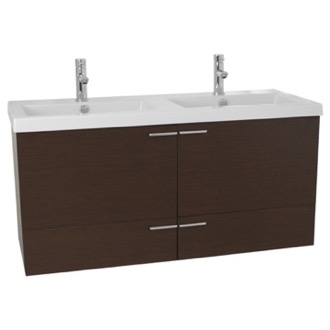 Bathroom Vanity 47 Inch Wenge Bathroom Vanity Set, Double Sink ACF ANS373