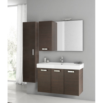 39 Inch Wenge Bathroom Vanity Set ACF C131
