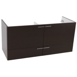 Vanity Cabinet 47 Inch Wall Mount Wenge Double Bathroom Vanity Cabinet ACF L411WE