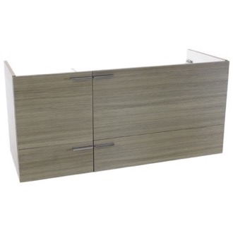 47 Inch Wall Mount Larch Canapa Double Bathroom Vanity Cabinet ACF L412LC