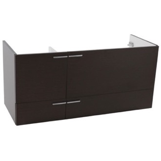 Vanity Cabinet 47 Inch Wall Mount Wenge Double Bathroom Vanity Cabinet ACF L412WE