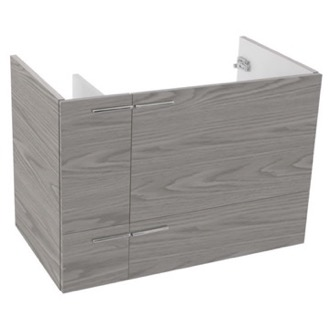 31 Inch Wall Mount Grey Walnut Bathroom Vanity Cabinet ACF L417WG