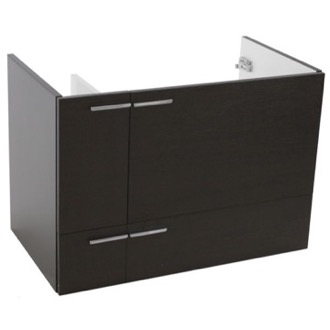 Vanity Cabinet 31 Inch Wall Mount Wenge Bathroom Vanity Cabinet ACF L417WE