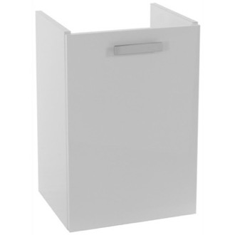 15 Inch Wall Mount Glossy White Bathroom Vanity Cabinet ACF L423BW