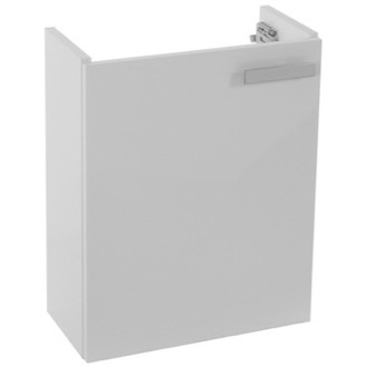 18 Inch Wall Mount Glossy White Bathroom Vanity Cabinet ACF L423W