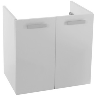 22 Inch Wall Mount Glossy White Bathroom Vanity Cabinet ACF L425BW