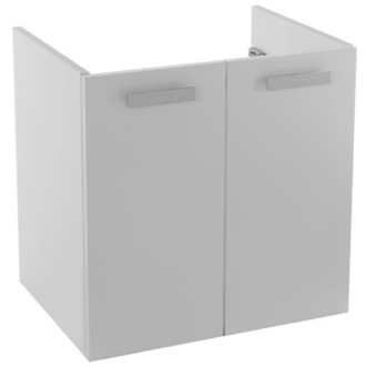 22 Inch Wall Mount Glossy White Bathroom Vanity Cabinet ACF L425W
