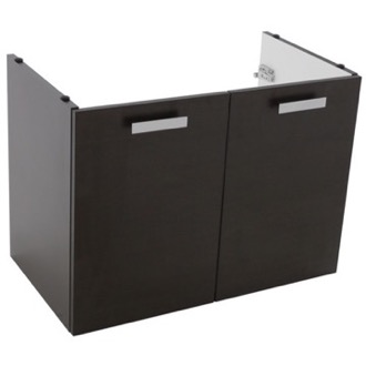 Vanity Cabinet 30 Inch Wall Mount Wenge Bathroom Vanity Cabinet ACF L437WE