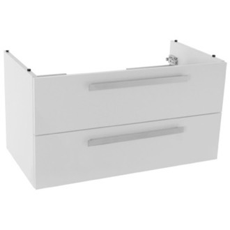 Vanity Cabinet 33 Inch Wall Mount Glossy White Bathroom Vanity Cabinet ACF L818W