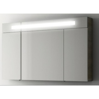 Medicine Cabinet Modern 47 Inch Medicine Cabinet with 3 Doors and Neon Light ACF S512