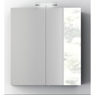 Wall Mounted 28 Inch Medicine Cabinet with Mirror and 2 Doors ACF S727