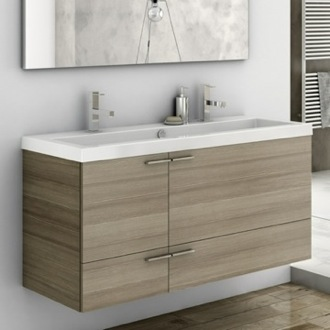 47 Inch Vanity Cabinet With Fitted Sink ACF ANS39-Larch Canapa