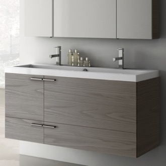 47 Inch Vanity Cabinet With Fitted Sink ACF ANS39-Grey Walnut