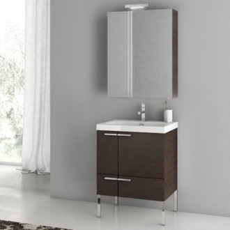 23 Inch Bathroom Vanity Set ACF ANS14-Wenge