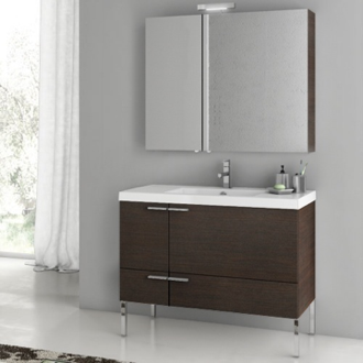39 Inch Bathroom Vanity Set ACF ANS15-Wenge