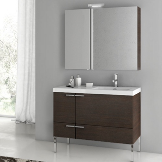 39 Inch Bathroom Vanity Set ACF ANS26-Wenge