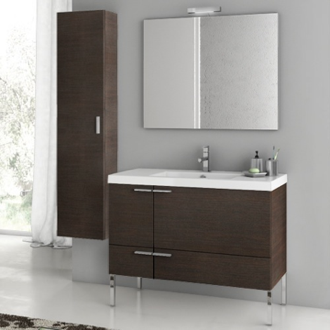 39 Inch Bathroom Vanity Set ACF ANS28-Wenge
