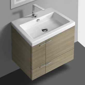 23 Inch Vanity Cabinet With Fitted Sink ACF ANS32-Larch Canapa