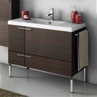 39 Inch Vanity Cabinet With Fitted Sink ACF ANS33-Wenge